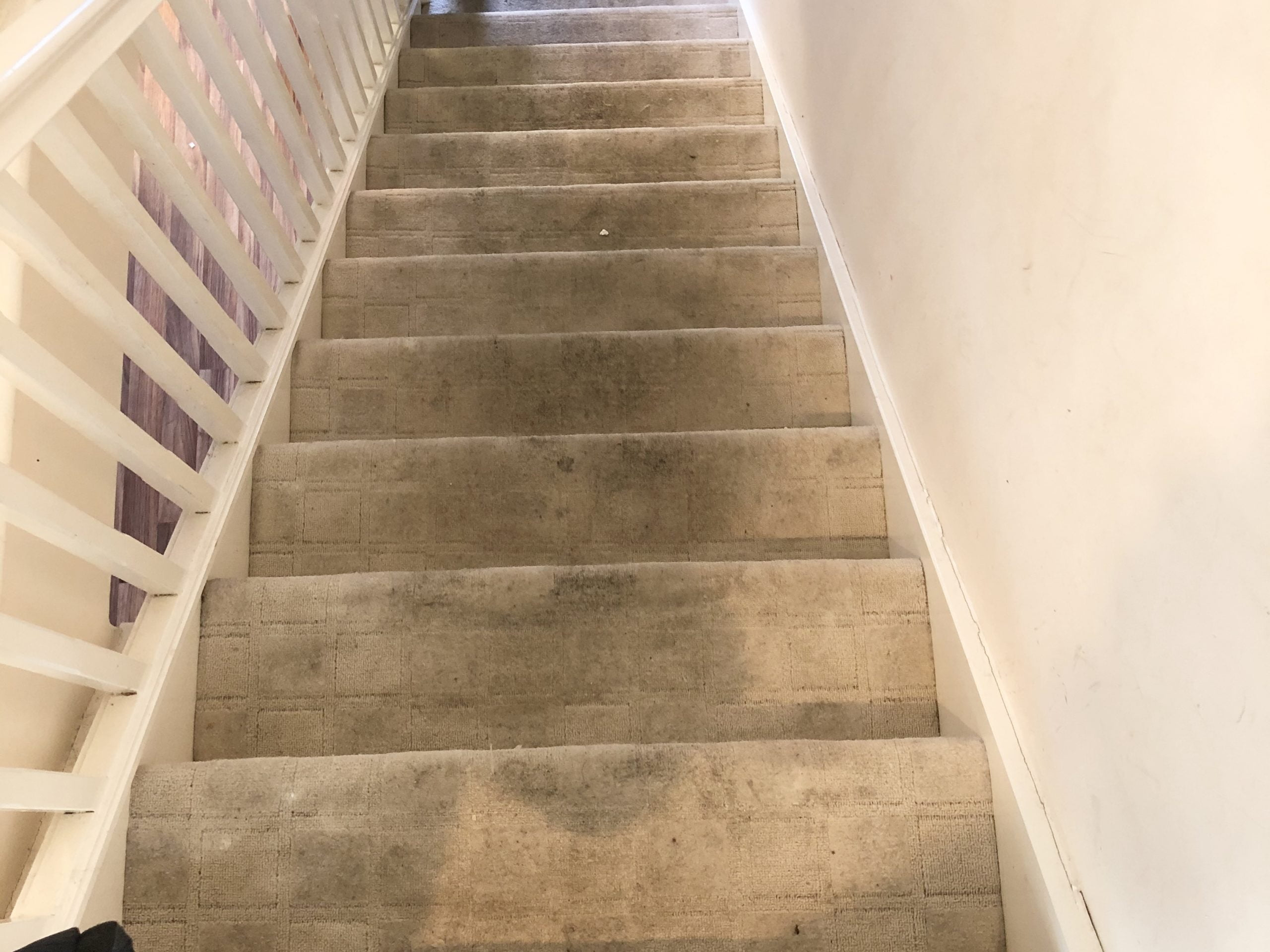 dirty Stairs carpet cleaning in Bedford Before